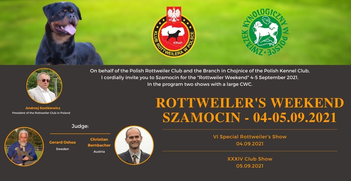 ROTTWEILER'S WEEKEND PIŁA - 04-05.09.2021